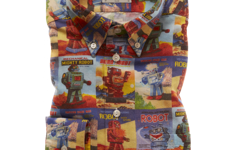 "Eton shirt with Rossi ""Robot"" design"